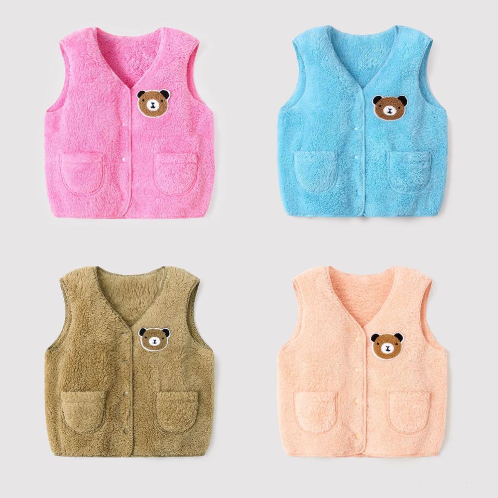 New Autumn Winter Children Vest Fur Baby Waistcoat Kids Light Vest for Girl Boy Toddler Children Clothes Fur Jacket Sleeveless 6