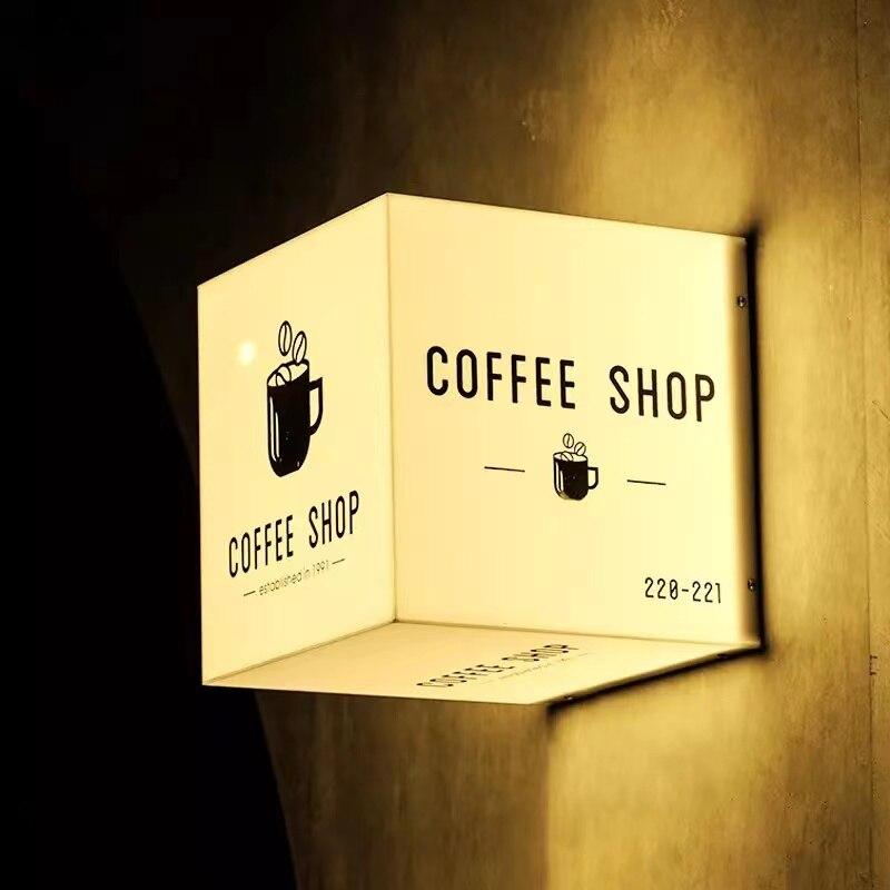 Custom Acrylic outdoor led Wall Aat Decor shop sign 3D light box sign letters