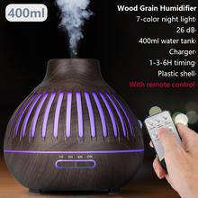 400ml pilot powietrza aromatyczny ultradźwiękowy nawilżacz powietrza kolor światła LED Xiomi elektryczne do aromaterapii dyfuzor olejków eterycznych dla ho tanie tanio LISM 1l 10 w ROHS 24 v 36db CN (pochodzenie) Mgła absolutorium Ultradźwiękowy sterylizować Gospodarstw domowych