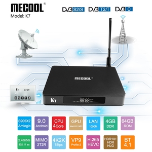 Image 3 - Mecool K7 مربع التلفزيون الذكية أندرويد 9.0 DVB T2/S2/C Amlogic S905X2 رباعية النواة 4GB DDR4 64GB 4K 60fps ثنائي واي فاي 1000Mbps K7 مجموعة صندوق