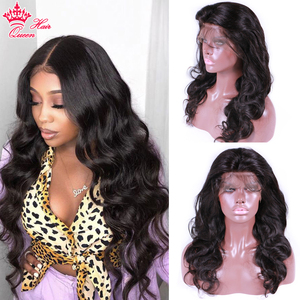 Queen Hair Products Body Wave Lace Front Human Hair Wigs Pre-plucked 13x6 lace front wig Frontal Natural Color For Black Women(China)