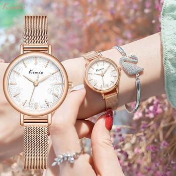 KIMIO Dropshipping 2020 New Arrivals Watches Women Luxury Brand Watch Women Gold Quartz Lady Watch For Woman Casual Wristwatch