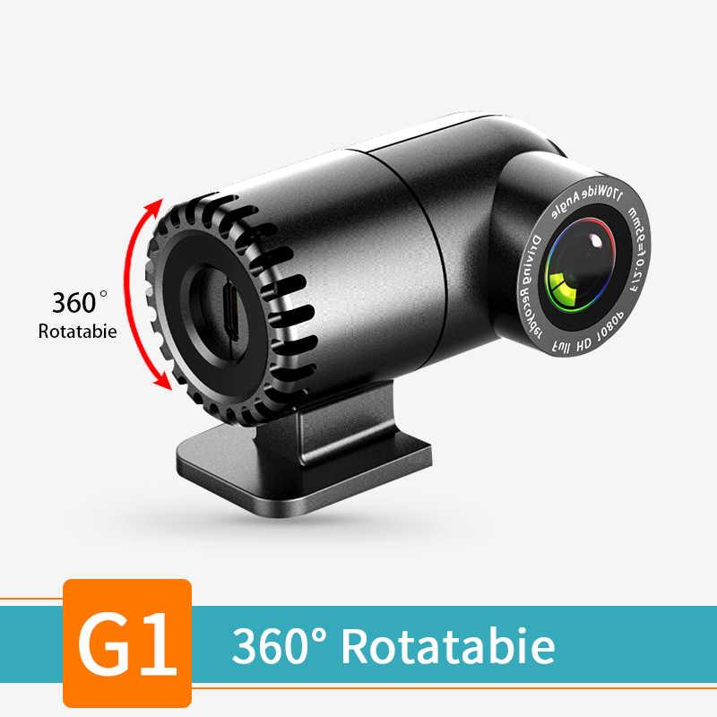 Voiture cachée DVR lentille 360 degrés rotatif Dash Cam USB Mini caméra ADAS LDWS Auto enregistreur vidéo numérique pour voiture lecteur Android