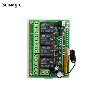 Image 5 - 433Mhz Universal Wireless Remote Control Switch DC 12V 4 CH RF Relay Receiver Module + RF Remote 433 Mhz Transmitter Diy