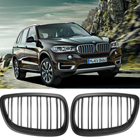 1 Pair Kidney Grill For BMW E60 E61 5 Series 2003 2010 Dual Line Front Grill Front Grill Gloss Matte Black Car Styling Free Ship