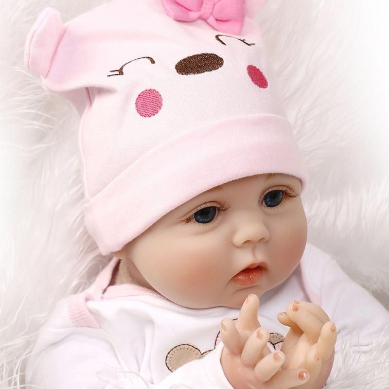 22 pulgadas 55 cm crianza muñecas del bebé de silicona juguete U7EE|Muñecas|   -