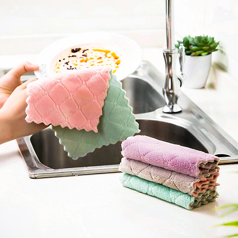 1pc Super Absorbent Microfiber kitchen Dish Cloth High efficiency Tableware Household Cleaning Towel kitchen Tools Gadgets in Cleaning Cloths from Home Garden