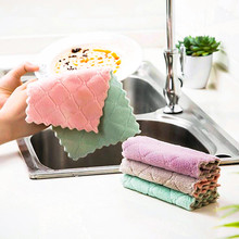 1pc Super Absorbent Microfiber kitchen Dish Cloth High-efficiency Tableware Household Cleaning Towel Tools Gadgets