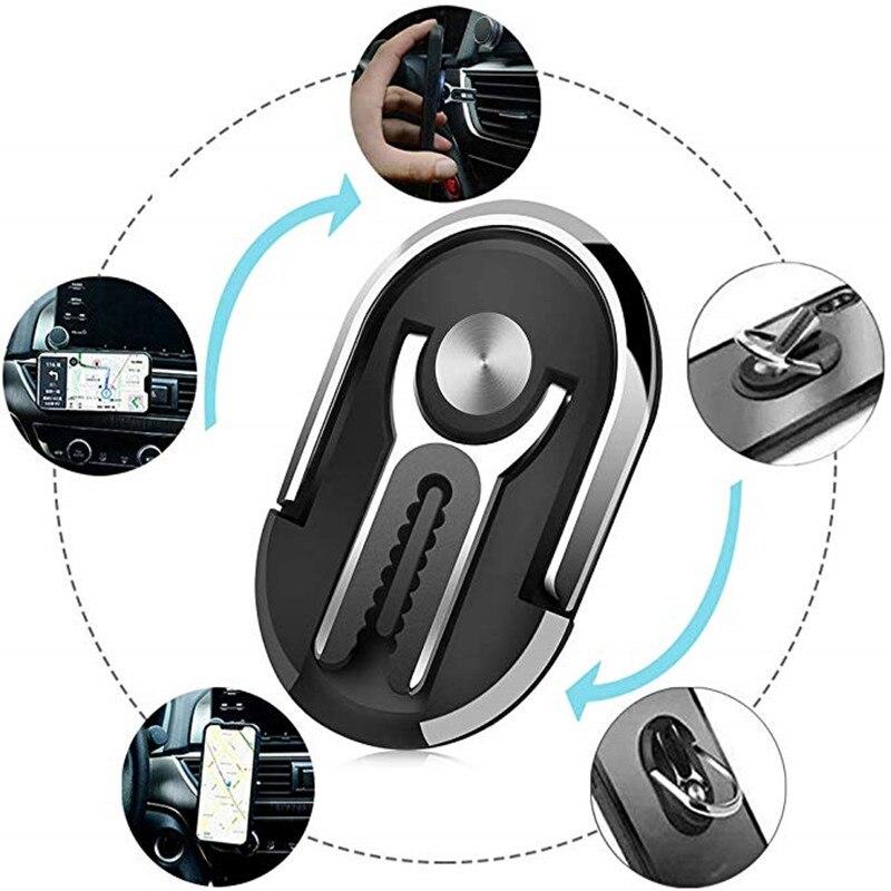 Multipurpose Mobile Phone Holder Bracket Car Air Outlet Mount Stand 360 Degree Rotation Magnetic Finger Ring Phone Holder
