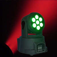 7*10W 4IN1 RGBW LED Stage Light Moving Head Beam Party Lights DMX512 LED DJ Xmas Christmas Sound Active Disco Lighting