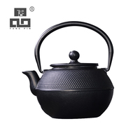 TANGPIN big capacity cast iron teapot with infuser black iron tea kettle drinkware 1.2L
