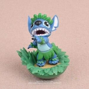 Image 3 - Disney Lilo i stich 5 sztuk/zestaw 5 7cm figurka Anime dekoracja kolekcja figurka mała lalka model zabawkowy dla dzieci prezent