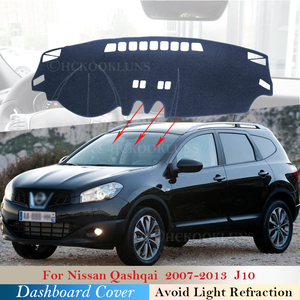 Dashboard Cover Protective Pad for Nissan Qashqai J10 2007~2013 Car Accessories Dash Board Sunshade Carpet Anti-UV 2010 2012