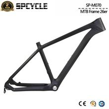 "Spcycle 26er Carbon MTB Rahmen 26er Mountainbike Carbon Rahmen Kinder Fahrrad Carbon Rahmen BSA 73mm Größe 15/17/19"""