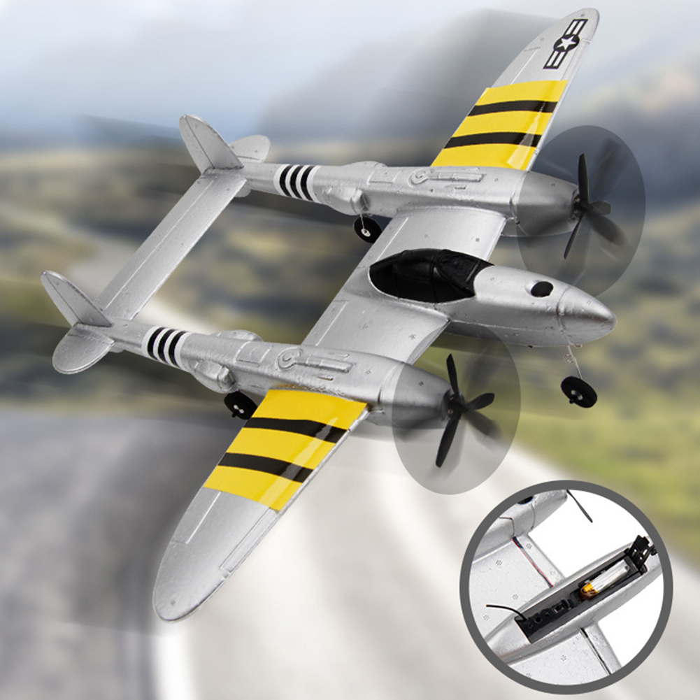 P38 2.4G DIY Indoor Flying Drone Toy Kids Model Remote Control Mini RC Glider Airplane Gift Throwing Fixed Wing Foam image