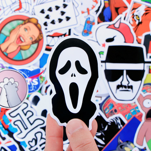 Image 3 - Random 1000 Pcs JDM Stickers Funny Cartoon DIY Cool Sticker For Car Laptop Skateboard Motorcycle Furniture Decal Not Repeat Toys