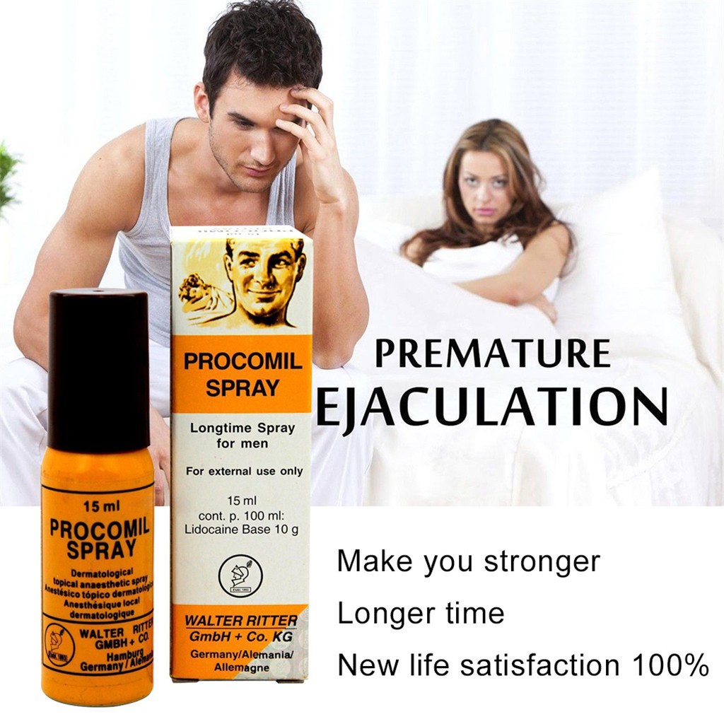 Procomil Male Sex Delay Spray Keep Long Sex Time Anti Premature Ejaculation Delay Spray For Men Long Lasted 15ML L0918