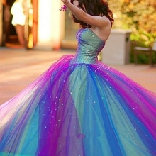 Blue And Purple Quinceanera Gowns Ball Gown Prom Dresses Cry