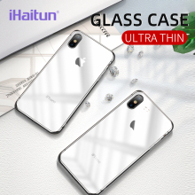 iHaitun Luxury Matte Glass Case For iPhone 11 Pro Max XS MAX XR X Cases Transparent Back Cover 10 7 8 Plus Phone