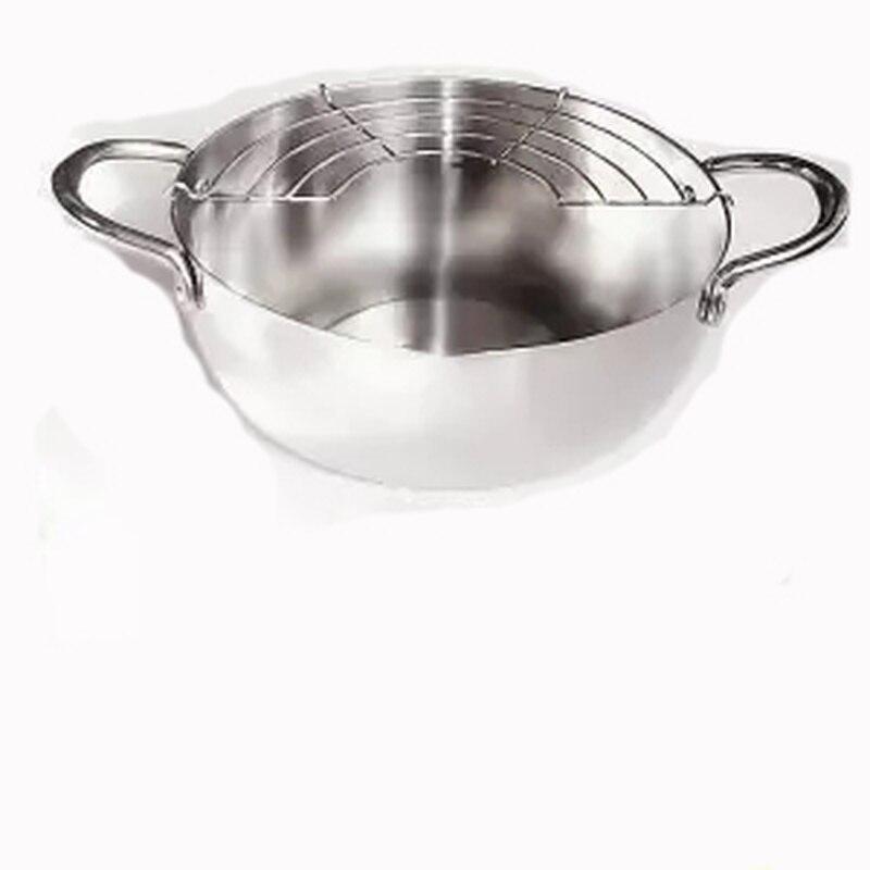 Deep-fried Pan Thicken Japanese Tempura Fryer Small Frying Pan Caliber 20cm Deep 8cm Soup Pot Hot Pot Boiling Pot Milk Pot