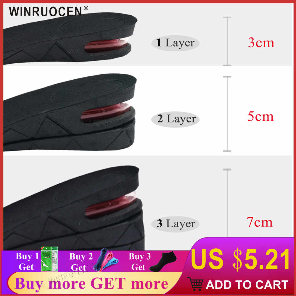 3 7cm Air Cushion up Adjustable Invisible Height Increase