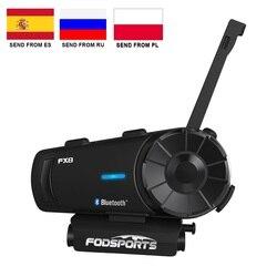Fodsports FX8 Motorcycle Helmet Bluetooth Intercom Moto Helmet Headset 1000m 8 Rider BT Interphone Intercomunicador FM