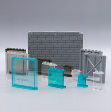 LegoINGly Building Blocks City Accessories Wall Window Panel Side Support Street View House hotel Parts Bricks Toy Bulk