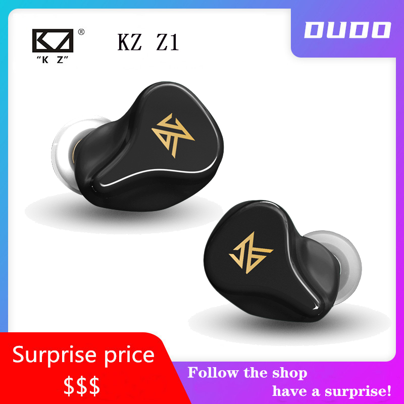 KZ Z1 TWS True Wireless Earbuds KZ <font><b>Bluetooth</b></font> 5.0 Earphone 1DD Dynamic Headset Noise Cancelling Touch Control KZ S1 S1D <font><b>S2</b></font> Z1 image