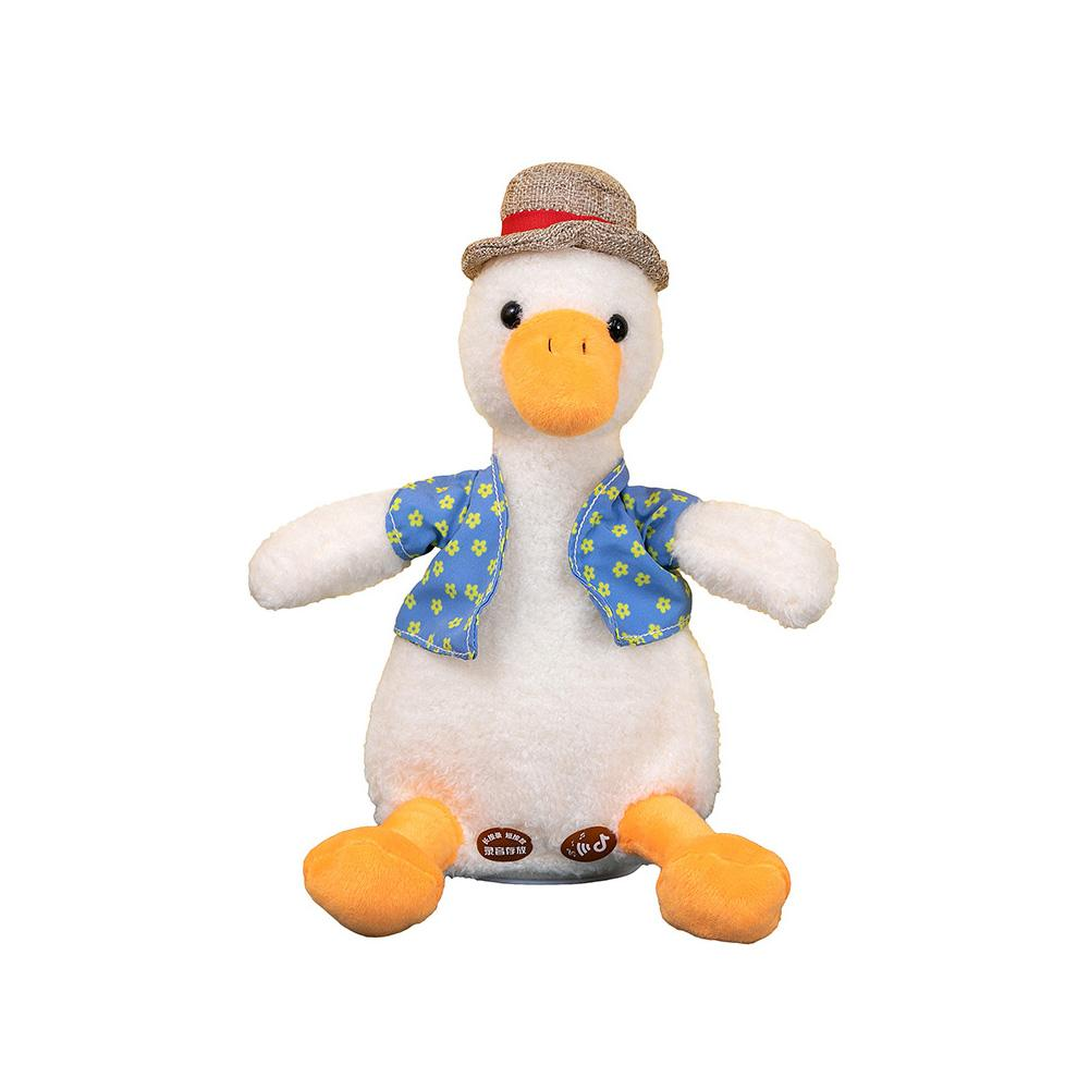 Kids Talking Toy Children Talking Duck Repeats What You Say Plush Toy Educational Talking Toy Repeating Duck Toy Gift For Babies