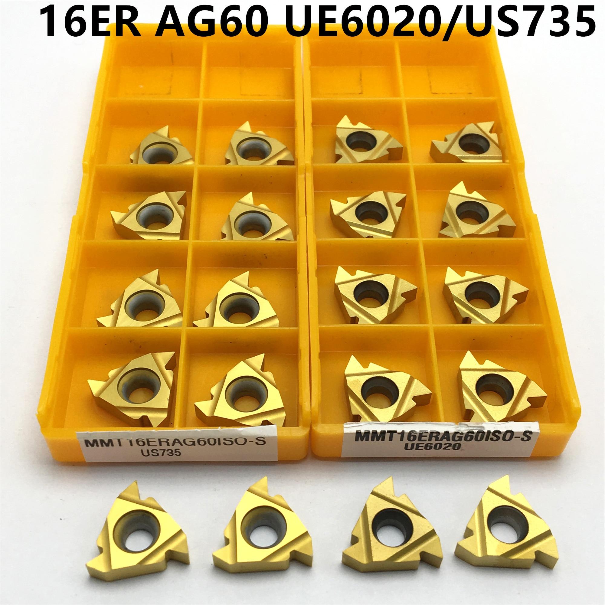 MMT16ER AG60 UE6020 / US735 11ER 11IR Hard Alloy Thread Turning Tool Cutting Tool Milling Cutter CNC Tool 16ERAG60 Thread Cutter