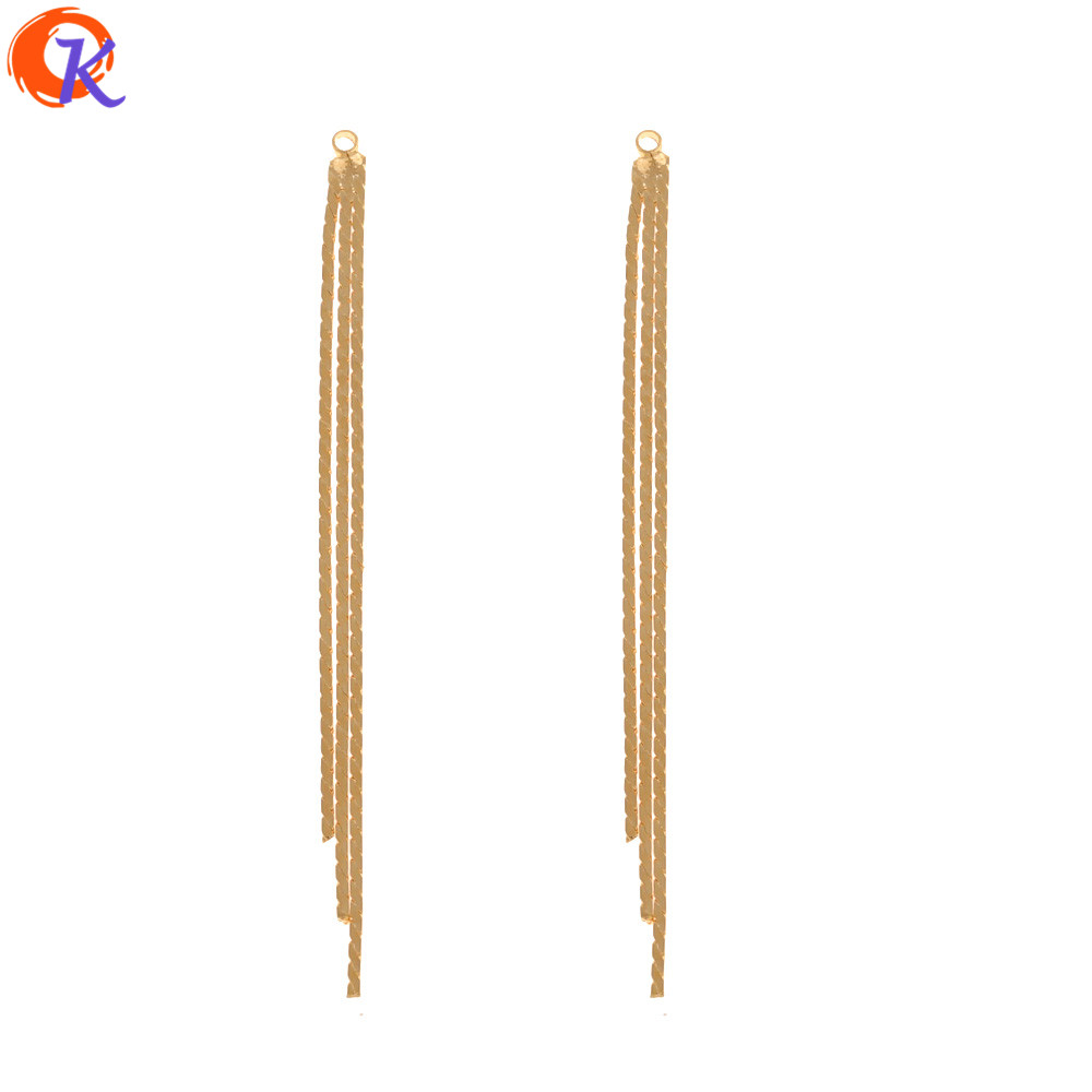 Cordial Design 30Pcs 3*62MM Jewelry Accessories/Hand Made/Genuine Gold Plating/Chain Tassel Shape/DIY Making/Earring Findings