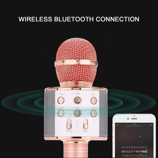 Microphone 3in1 karaoké sans fil 4