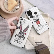 Funny rabbit and mouse Wave pattern mobile phone shell for Apple 66S78 Plus X XR UNBreak XS,classic for iPhone 11 Pro Max case(China)