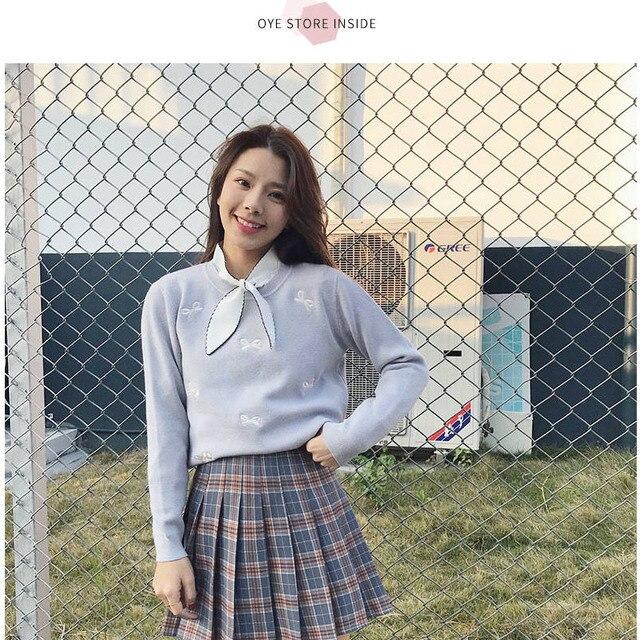 XS-2XLWomen Skirt Cute style High Waist Elegant Stitching Skirts Summer student pleated skirt women sweet cute girl dance skirt 8
