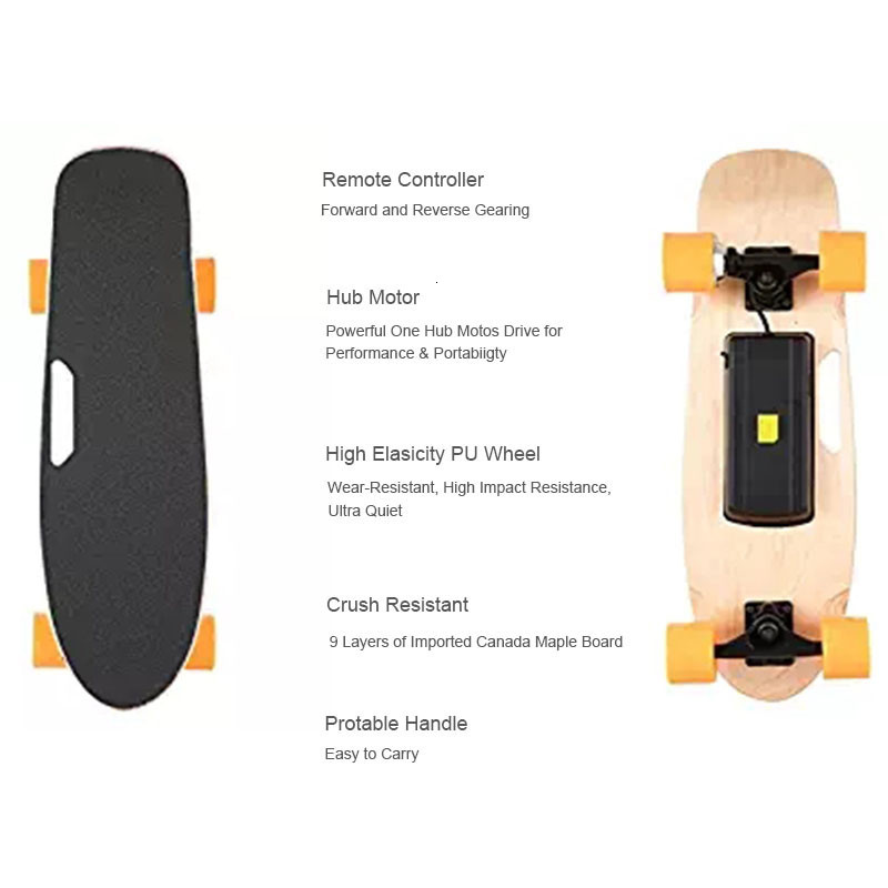 Ship from USA Europe Four Wheel Electric Skateboard Wireless Remote controller Scooter Plate Board hoverboard unicycle (1)