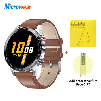 Microwear L16 Smart Watch Men Sports Fitness Tracker IP68 Waterproof Heart Rate Monitor Android IOS Full Touch Screen Smartwatch 12