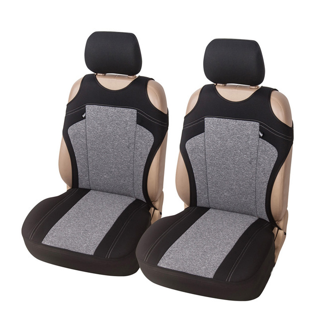 $ US $12.47 T-shirt Car Seat Cover Universal Fit Most Vehicles Cationic Fabric Front Seat Covers 3 Color Optional Decor Car Seat Protector