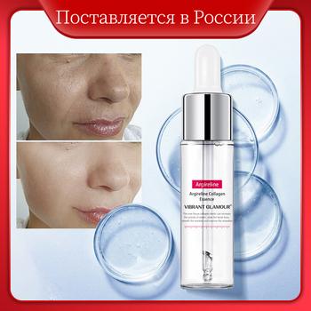 VIBRANT GLAMOUR Argireline kolagen serum do twarzy przeciwzmarszczkowy krem esencjonalny lifting ujędrniający wybielanie nawilżający pielęgnacja skóry tanie i dobre opinie Anti-Aging Kobiet Ciecz Twarzy surowicy Water butanediol soybean amino acid palmitoyl hexapeptide-12trehalos VG-MB001