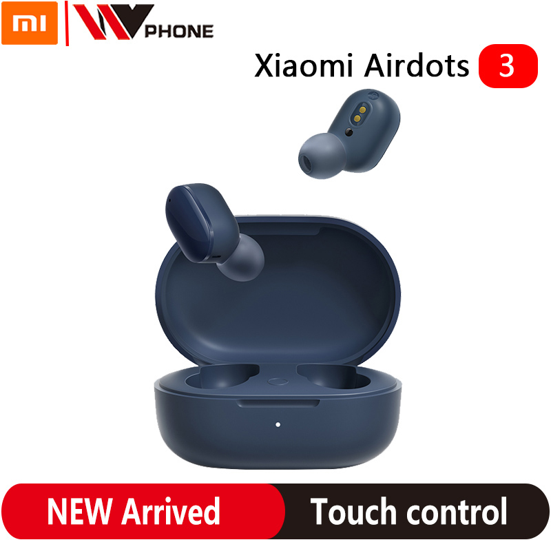 Xiaomi Redmi AirDots 3 Mi True Wireless Bluetooth 5.2 Earphone Stereo Auto Link Smart Wear Apt-X Adaptive Touch Control Headset