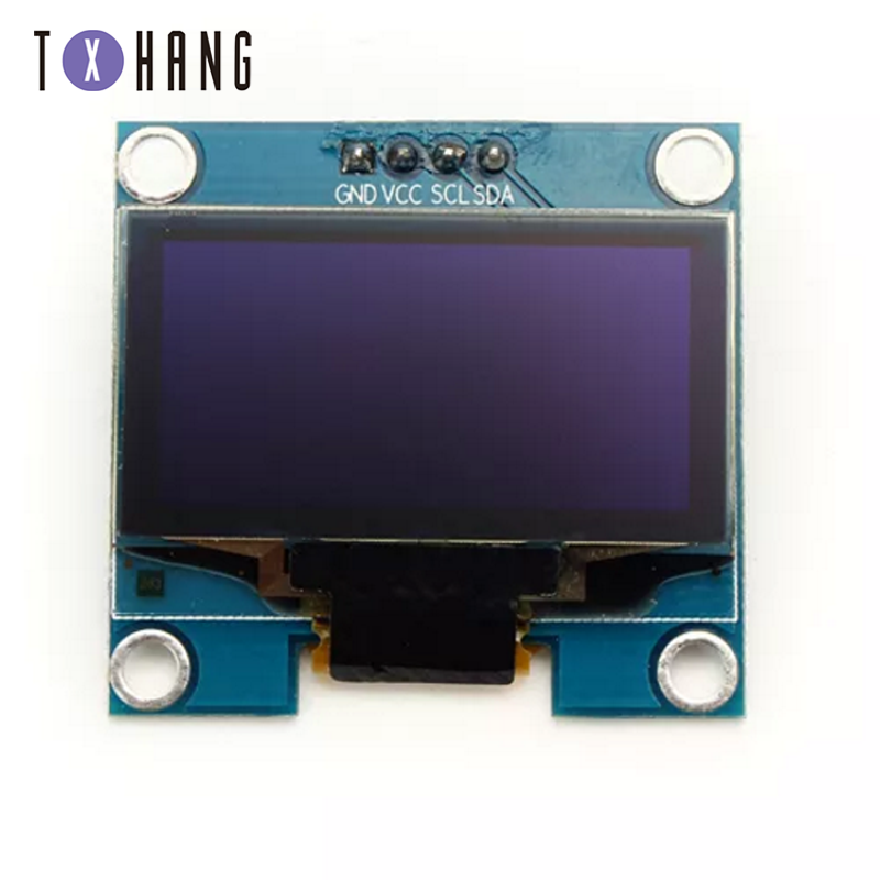 "1PCS 4PIN 1.3 OLED module white/blue color 128X64 1.3 inch OLED LCD LED Display Module 1.3"" IIC I2C Communicate with Case"