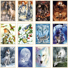 Diy 5d diamond painting animal full round mosaic picture embroidery pattern handmade Christmas gifts