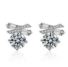 925 silver needle Korean version of zircon earrings female temperament personality creative earrings fashion jewelry earrings