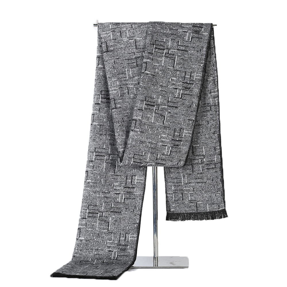 2019 Fashion Design Casual Scarves Tassel Winter Men's Cashmere Scarf High Quality Warm Neckercheif Modal Scarves Men Streetwear