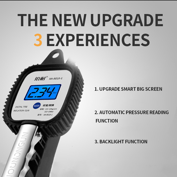 Universal Car Tire Pressure Alarm Air Gauge Digital Tyre Auto Tpms System Lcd Display Monitoring Inflator Truck Tester Manometer