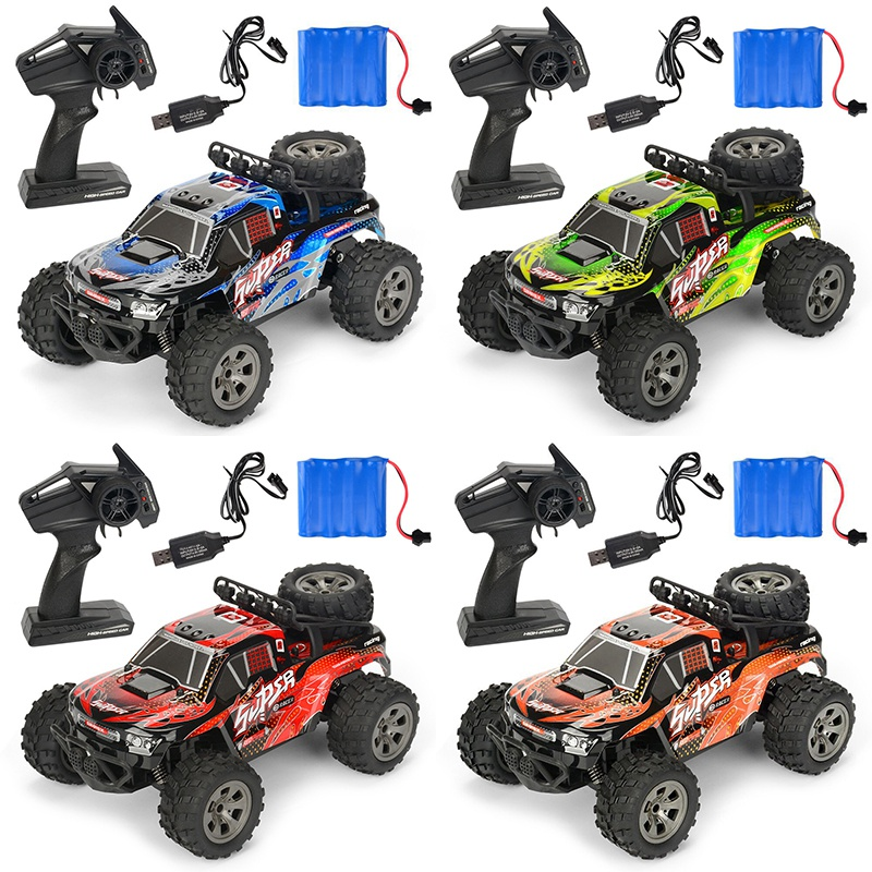 2.4G 4CH RC Car 2WD Brush Crawler Off -Road Remote Controller Car Electric Sport Racing Toy Car Model Vehicle for Children's Toy