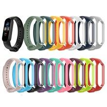 Замена силикон браслет браслет ремешок для Xiaomi ремешок 6 смарт часы силикон ремешок замена аксессуары для Xiaomi