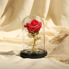Romantyczna róża latarnia na walentynki impreza rocznica ślub kwiat na prezent lampy stołowe z podświetleniem z różami kwiat Decortion # T2 tanie tanio ISHOWTIENDA CN (pochodzenie) Łóżko pokój Kości słoniowej Dół 2g11 Ue wtyczka 110 v Pilot zdalnego sterowania Fluorescencyjne