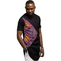 African print shirts short sleeve men's Ankara outfit fashion patchwork dashiki black groom tops custom made Africa clothing