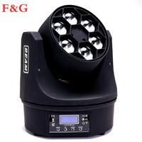 F & G LED شعاع + غسل 6x15 واط RGBW 4IN1 النحل مصابيح LED للسيارات على شكل عيون تتحرك رئيس ضوء مع Pragrams ممتازة 11/14 قنوات-في تأثير إضاءة المسرح من مصابيح وإضاءات على