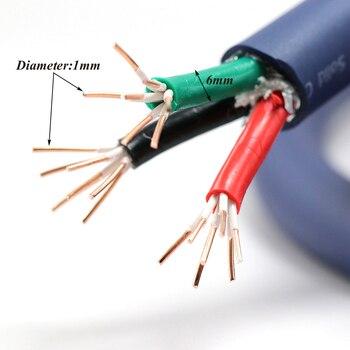 Monosaudio P902 99.998% OFC copper conductor main power cable, Hifi Audio power supply cord, AC power wire